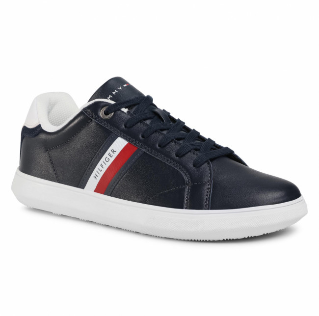 Sneakersy TOMMY HILFIGER -  Essential Leather Cupsole FM0FM02987 Desert Sky DW5