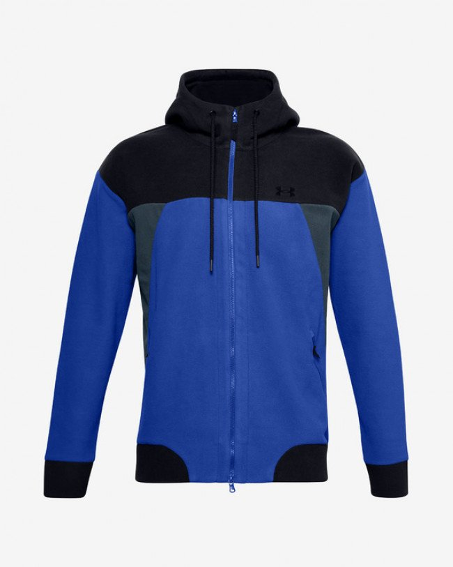 Under Armour Recover Fleece Mikina Modrá
