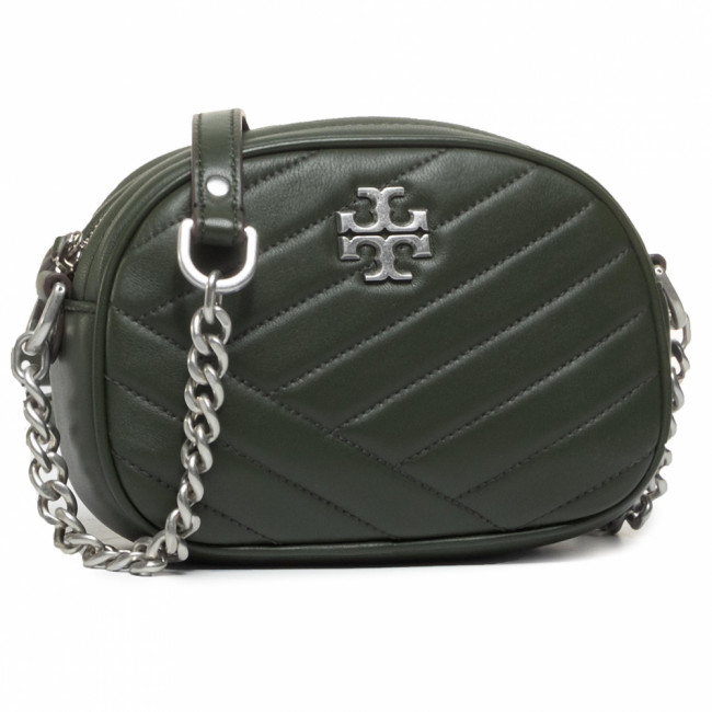 Kabelka TORY BURCH - Kira Chevron Camera Bag 60227 Poblano/Rolled Nickel #3 352