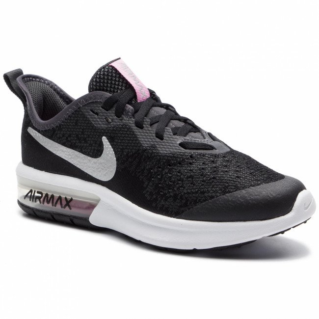 Topánky NIKE - Air Max Sequent 4 (Gs) Black/Metallic Silver