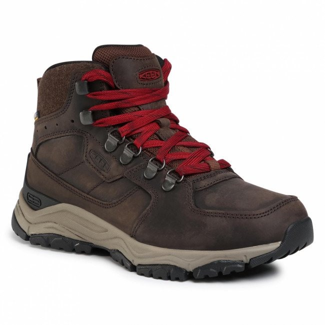 Trekingová obuv KEEN -  Innate Leather Mid Wp 1022365 Chestnut/Red Dahlia