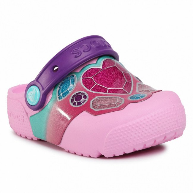 Šľapky CROCS - Funlab Lights 204133 Gems/Carnation