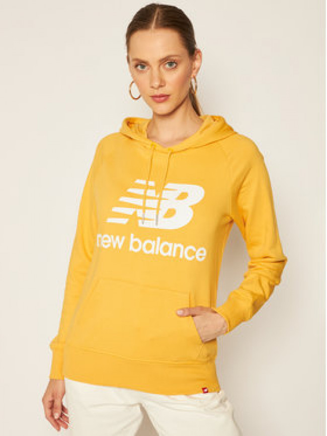 New Balance Mikina Esse Po Hoodie NBWT03550 Žltá Relaxed Fit