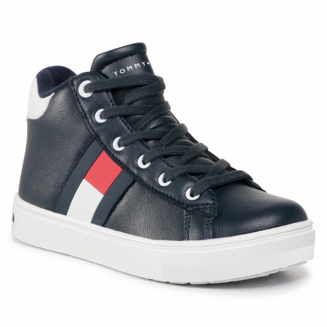 Sneakersy TOMMY HILFIGER - High Top Lace Up Sneaker T3B4 30925 1031 M Blue 800