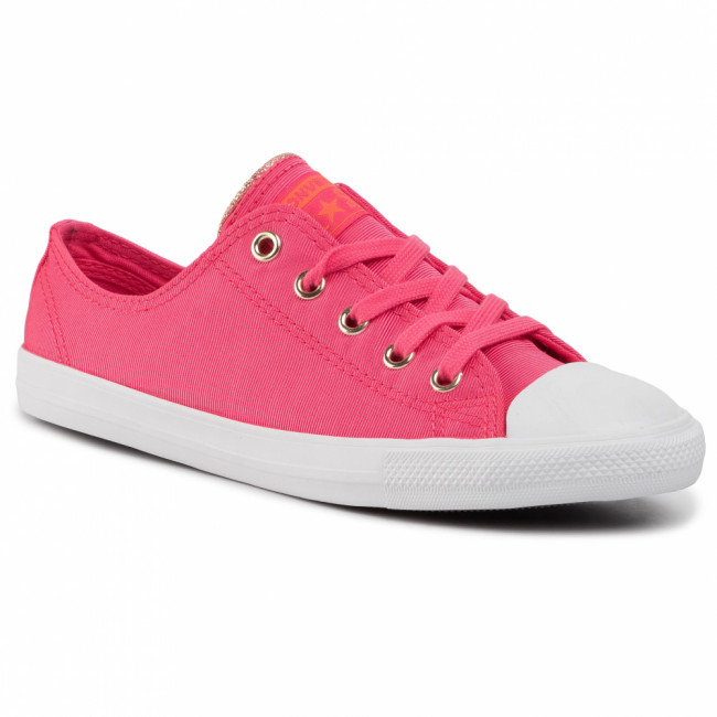 Tramky CONVERSE - Ctas Dainty Ox 564306C Strawberry Jam/Turf Orange