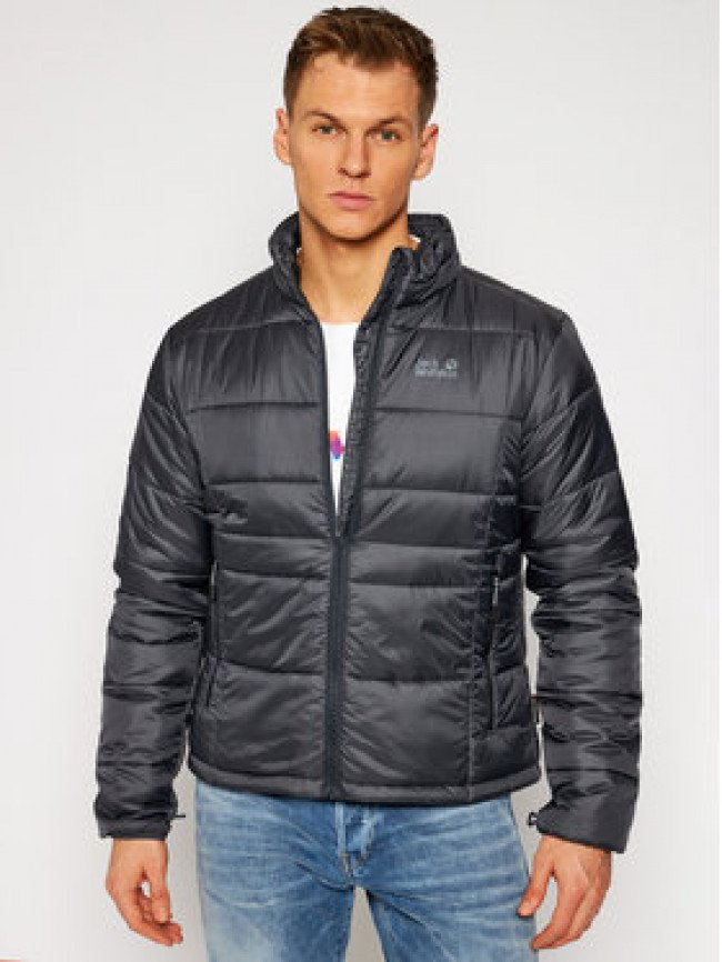 Jack Wolfskin Vatovaná bunda Argon 1204882 Sivá Regular Fit