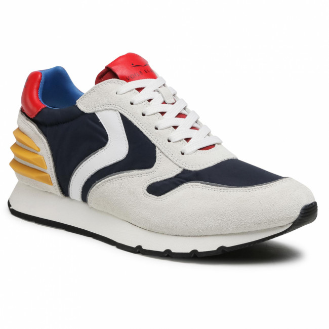 Sneakersy VOILE BLANCHE - Liam Power 0012015677.09.1N07 White/Blue