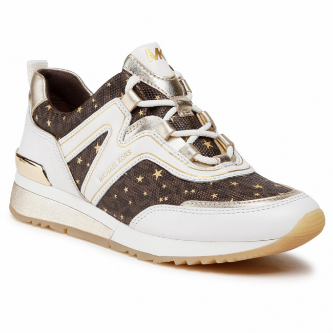 Sneakersy MICHAEL MICHAEL KORS - Pippin Trainer  43R1PIFS2B Op Wht/Brown