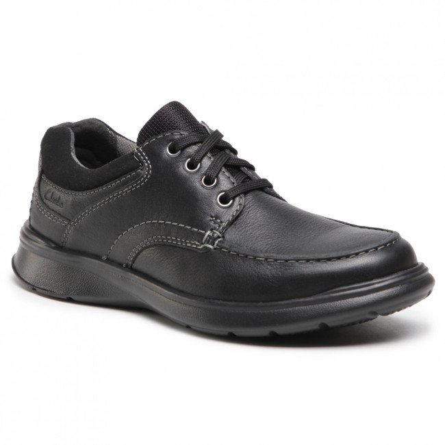 Poltopánky CLARKS - Cotrell Edge 261202117 Black Olly Leather