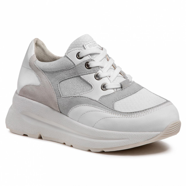Sneakersy GEOX - D Backsie A D15FLA 08521 C0130 White/Ice