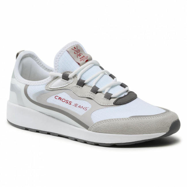 Sneakersy CROSS JEANS - HH2R4056C  White/Grey