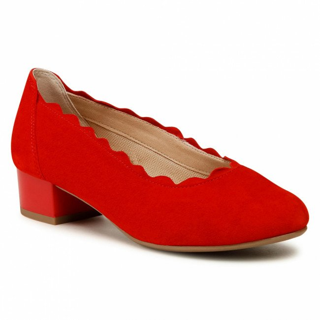 Poltopánky CAPRICE - 9-22301-26 Red Suede 524