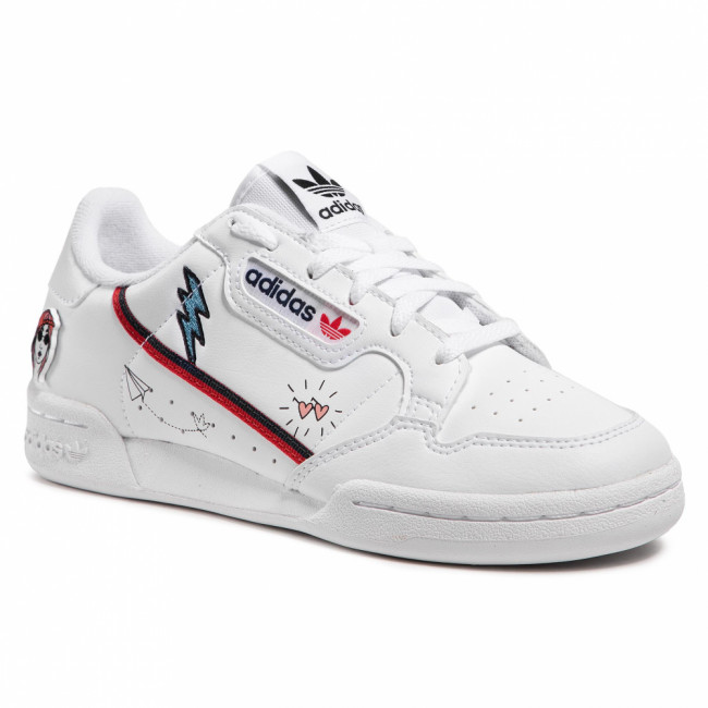 Topánky adidas - Continental 80 J FX6067  Ftwwht/Conavy/Scarle