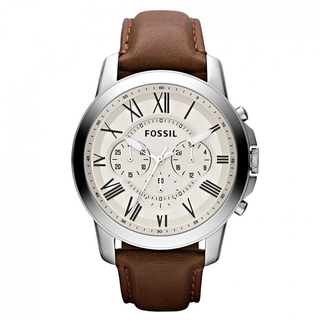 Hodinky FOSSIL - Grant FS4735IE Brown/Silver