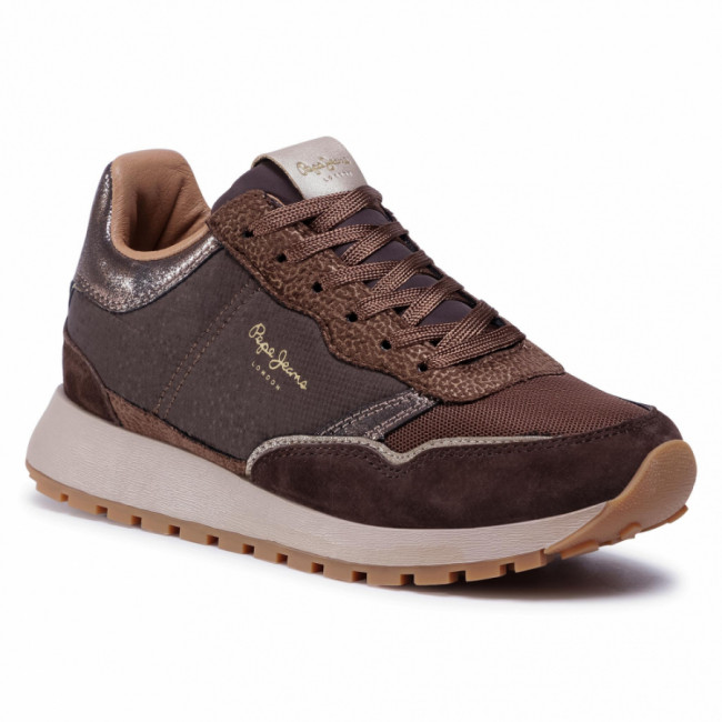 Sneakersy PEPE JEANS - Dean Nass PLS31058 Chocolate 899