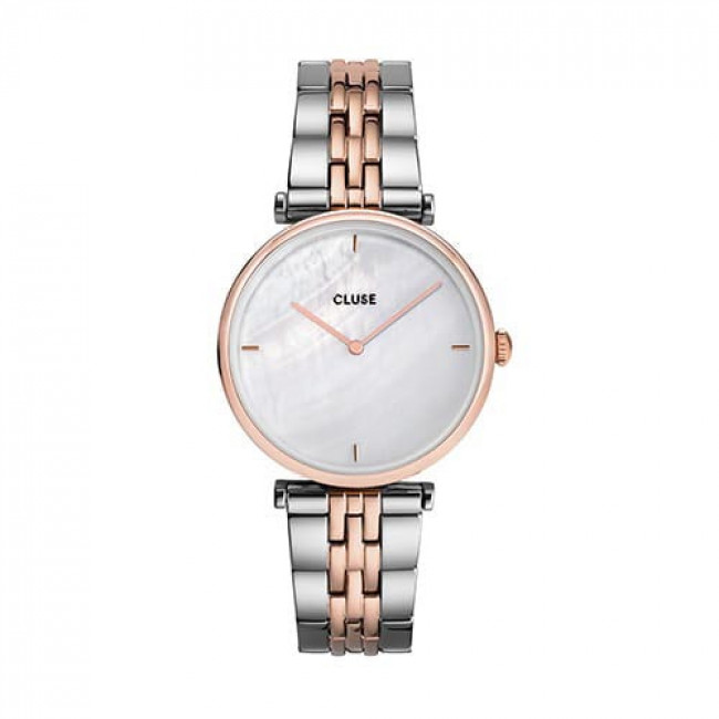 Hodinky CLUSE - Triomphe CW0101208015  Steel White Pearl/Rose Gold