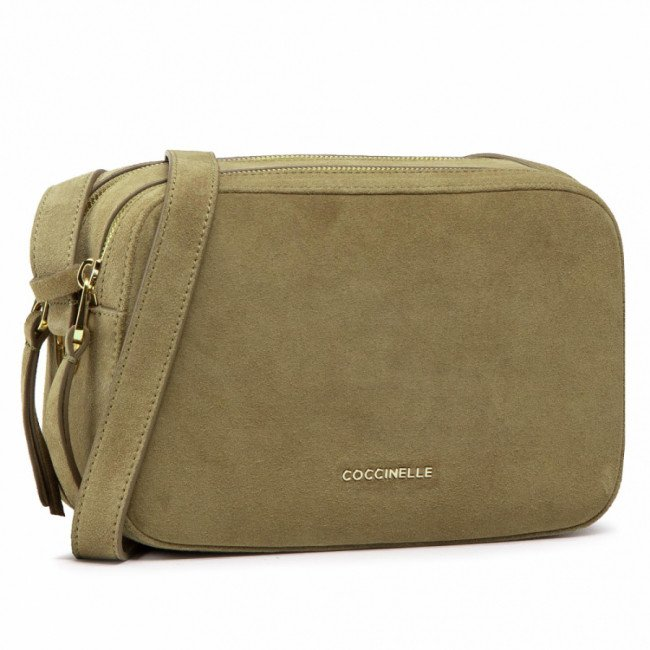 Kabelka COCCINELLE - H62 Lea Suede E1 H62 15 02 01 Moss Green G63