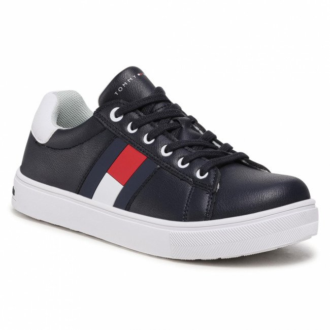 Sneakersy TOMMY HILFIGER - Low Cut Lace Up Sneaker T3B4-30921-0900 S Blue/White X007