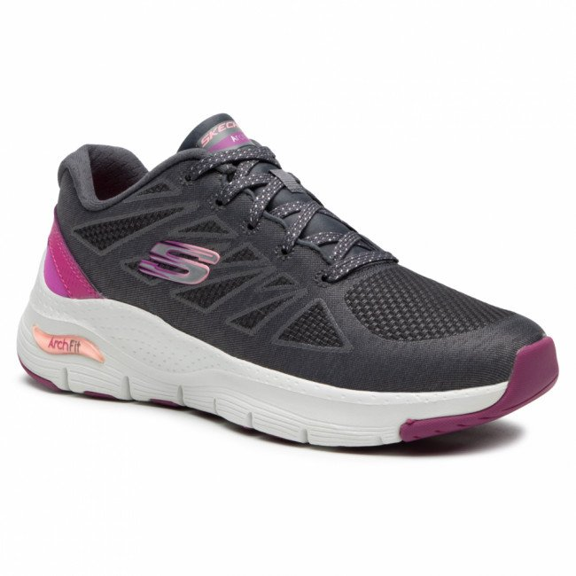 Topánky SKECHERS - She's Effortless 149411/CCPK Charcoal/Pink