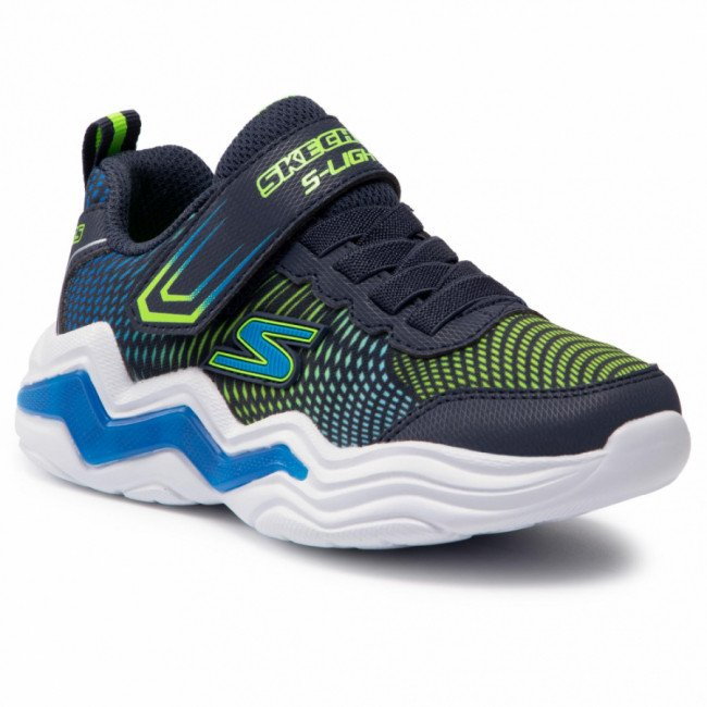 Sneakersy SKECHERS - Erupters IV 400125L/NVLM  Navy/Lime