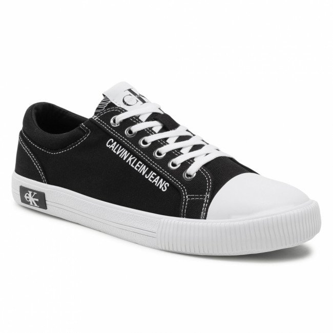 Tramky CALVIN KLEIN JEANS - Vulcanized Sneaker Laceup Co YM0YM00014 Black BDS