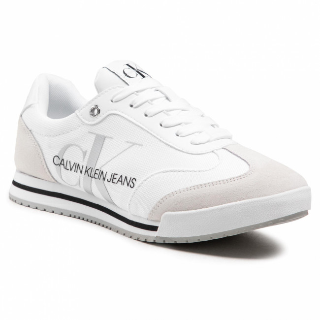 Sneakersy CALVIN KLEIN JEANS - Low Profile Sneaker Laceup Pes YM0YM00026 Bright White YAF