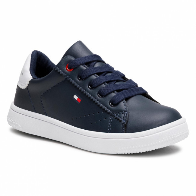 Sneakersy TOMMY HILFIGER - Low Cut Lace-Up Sneaker T3B4-31086-0193 M Blue/White X007