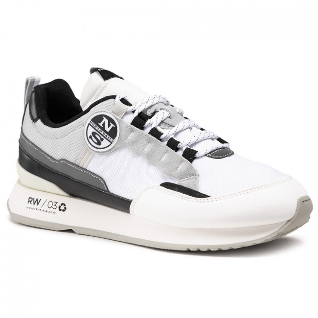 Sneakersy NORTH SAILS - RW/03 Frost -029 White/Lt Gray/Black