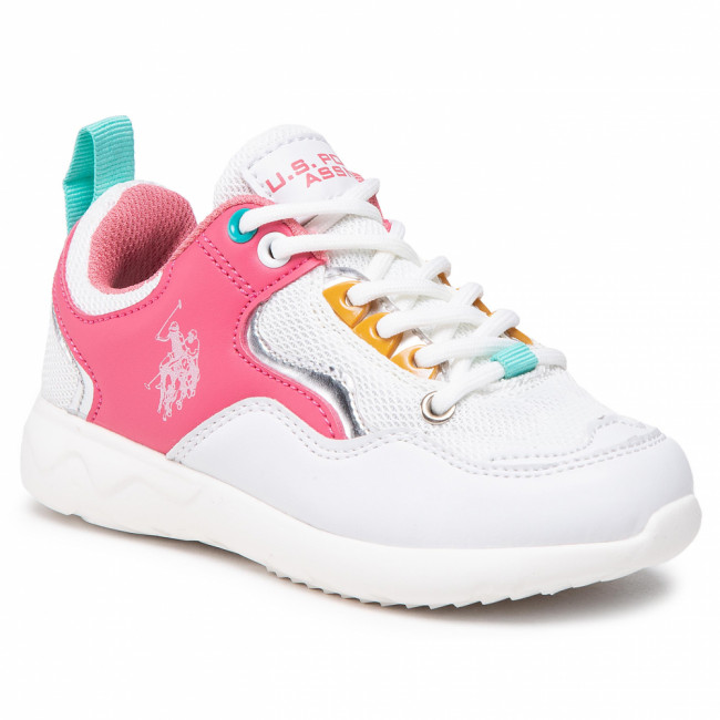 Sneakersy U.S. POLO ASSN. - Carly CARL4152S1/YM1 Whi/Pink