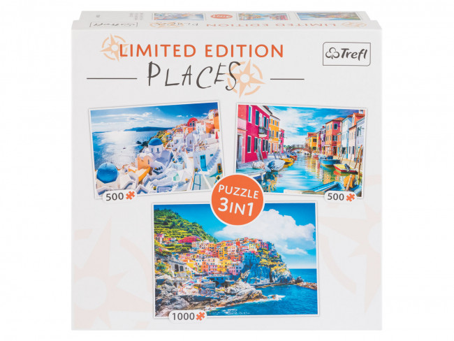 Trefl Puzzle 3 v 1 Limited Edition, 1000 + 500 + 500 dielikov (Places)