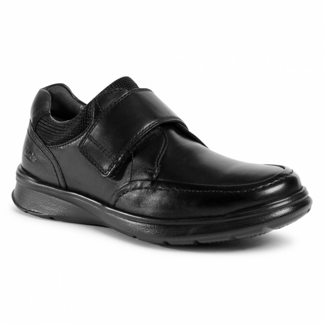 Poltopánky CLARKS - Cotrell Strap 261551767  Blk smooth Leather