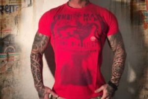 Yakuza T Shirt TSB 518 ribbon red moon