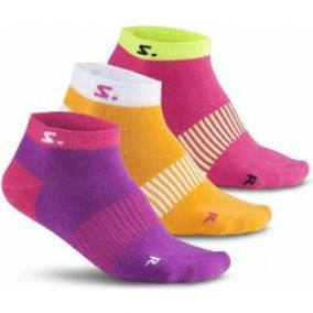 Salming ponožky Running Ankle Sock 3-pack Purple