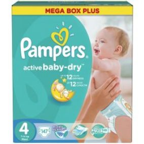 PAMPERS Active Baby 4 MAXI 7-14kg Megabox Plus
