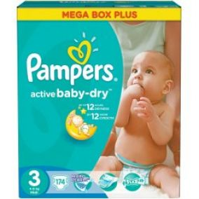 PAMPERS Active Baby 3 MIDI 4-9kg Megabox Plus