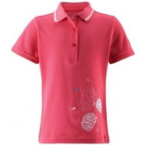 tričko Reima 526171 Polo Kid's Neon Red