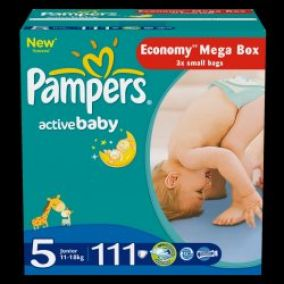 Pampers Active baby 5 junior plienky 111ks