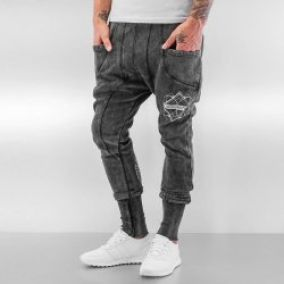 Bangastic Birds Sweat Pants Dark Grey
