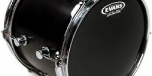 "Evans 18"" Resonant Black"