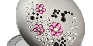 GM Collection Swarovski zrkadlo Flowers Aj Rose