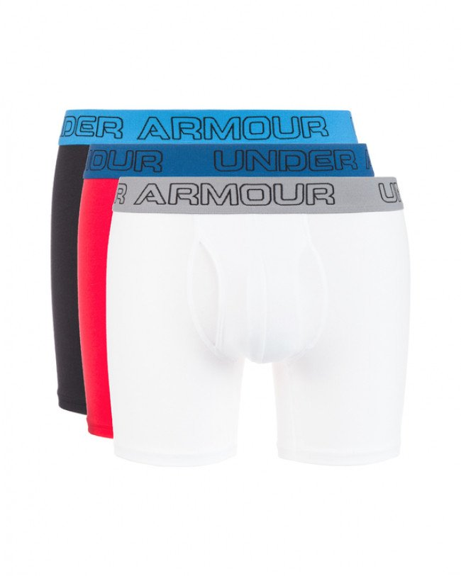 "Under Armour Charged Cotton® Stretch 6"" Boxerky 3 ks Modrá Červená Biela"