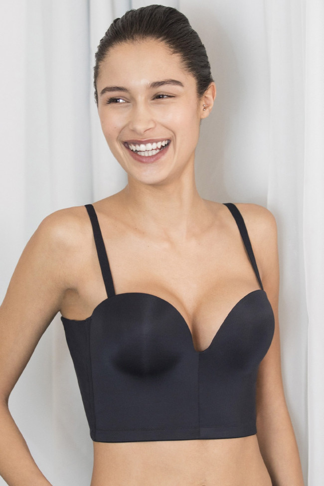 Podprsenka Wonderbra Ultimate Backless Push-Up black