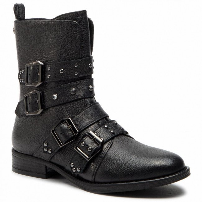 Členková obuv STEVE MADDEN - Ivy Ankelboot SM11000074  Black Leather