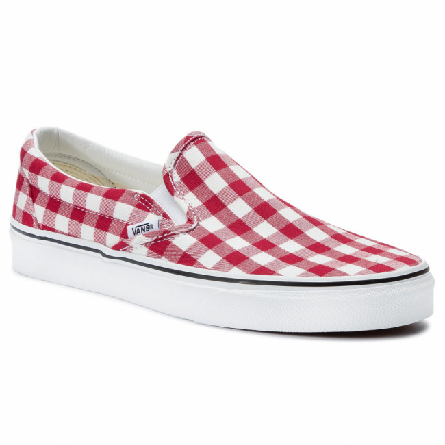 Tenisky VANS - Classic Slip-On VN0A38F7VDY1 (Gingham) Racing Red/True