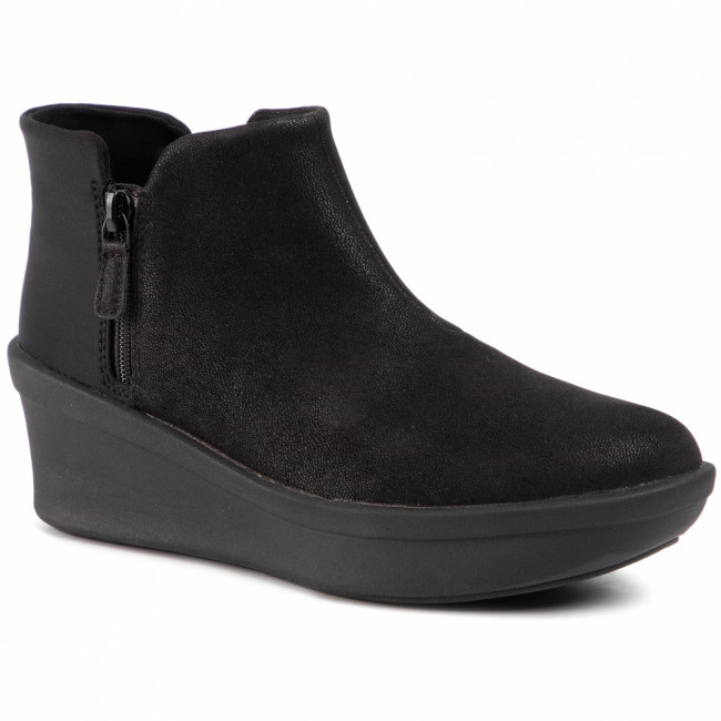 Členková obuv CLARKS - Step Rose Up 261460074 Black