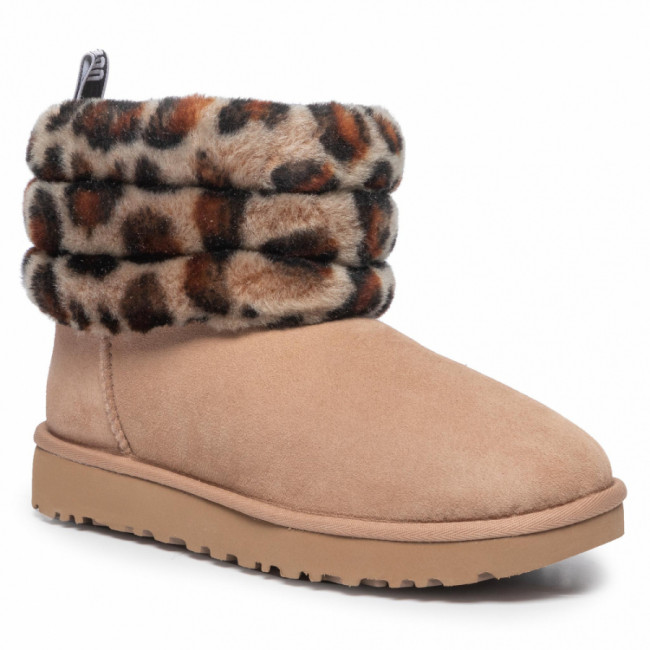 Topánky UGG - W Fluff Mini Quilted Leopard 1105358 Amp