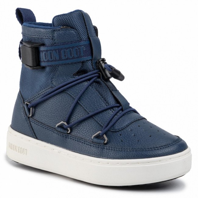 Outdoorová obuv MOON BOOT - Pulse Jr Boy New York 34061100003 Blue Navy/White