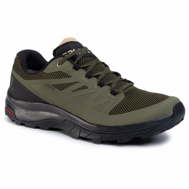 Trekingová obuv SALOMON - Outline Gtx GORE-TEX 409968 32 M0 Burnt Olive/Black/Safari