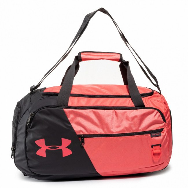 Taška UNDER ARMOUR - Ua Undeniable 4.0 Small Duffle Bag 1342656-677 Blcak/Coral