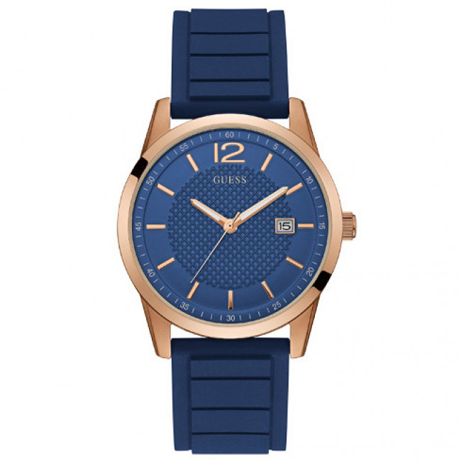 Hodinky GUESS - Perry W0991G4  BLUE/ROSE GOLD TONE